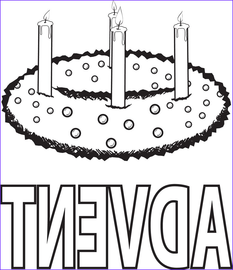 advent wreath coloring page a4704