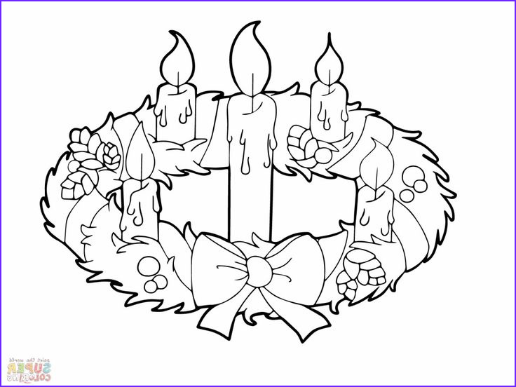 Advent Wreath Coloring Page Unique Gallery Advent Wreath and Candles Coloring Online Super