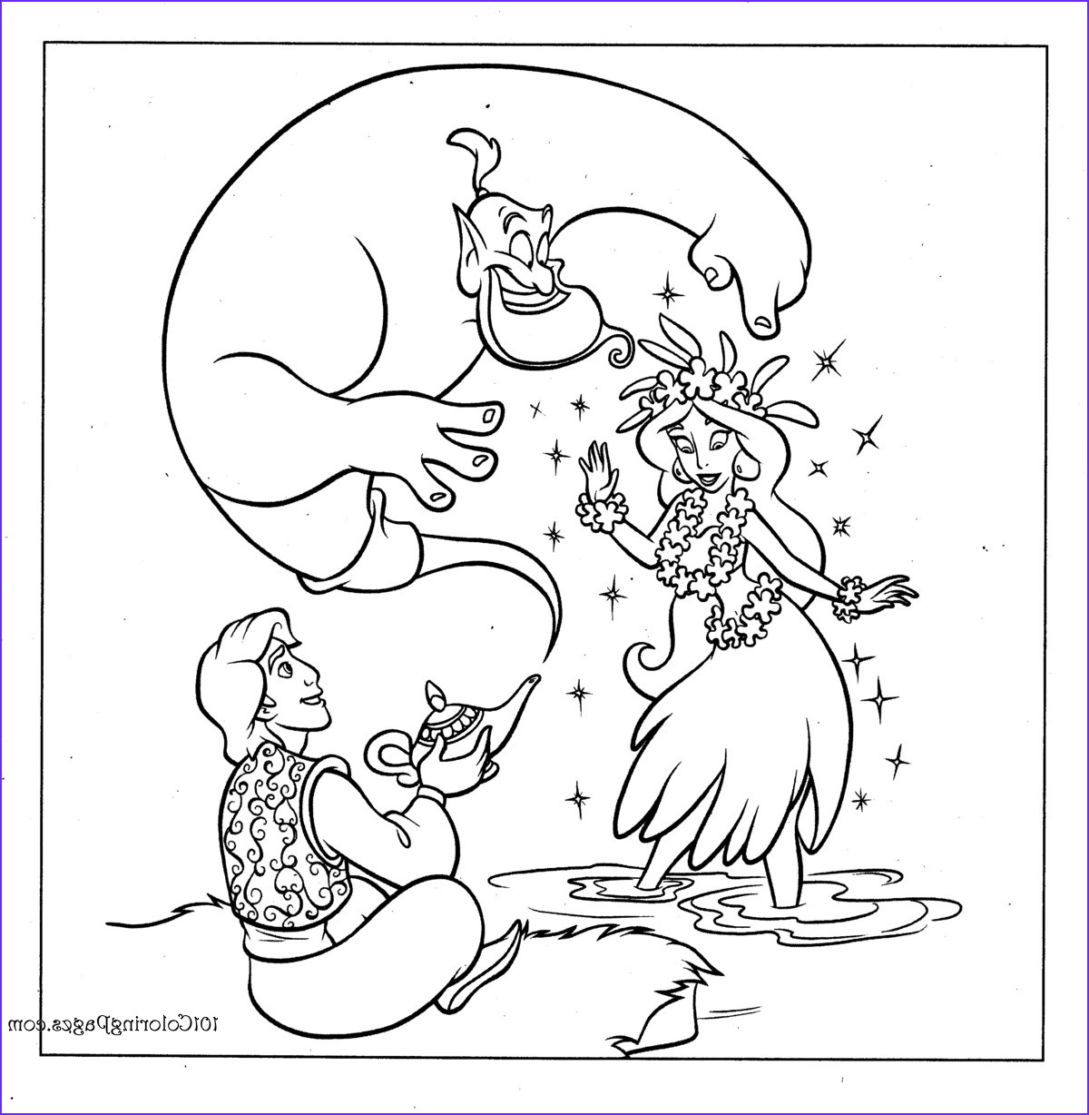 Aladdin Coloring Book New Gallery Aladdin Coloring Pages