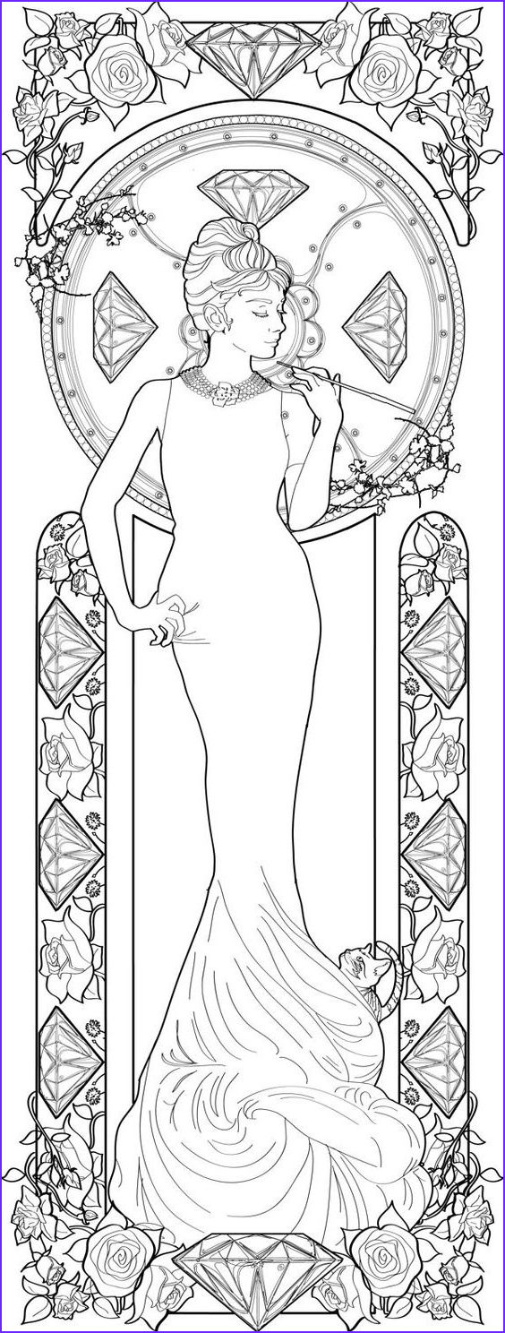 Alphonse Mucha Coloring Page Cool Image Alphonse Mucha Coloring Pages
