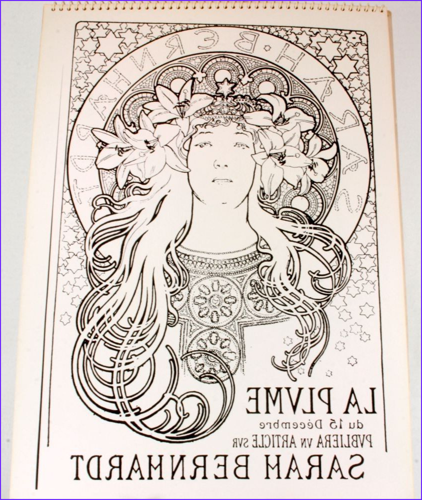 Alphonse Mucha Coloring Page Cool Stock Alphonse Mucha Coloring Pages Alphonse Mucha Coloring