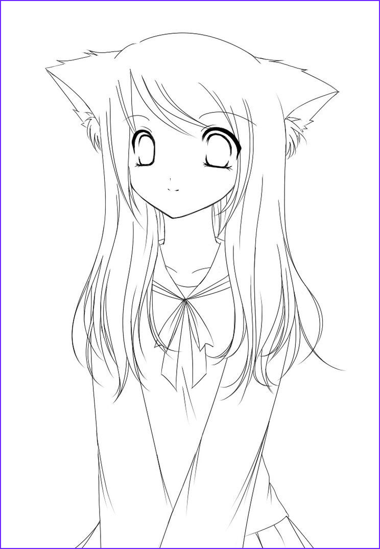 Anime Coloring Page For Kids Cool Collection Pages Anime Coloring Pages
