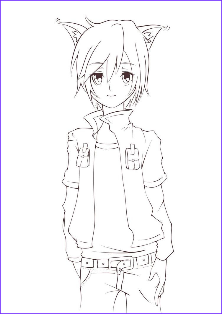 Anime Wolf Coloring Page Beautiful Image Pin On Guys