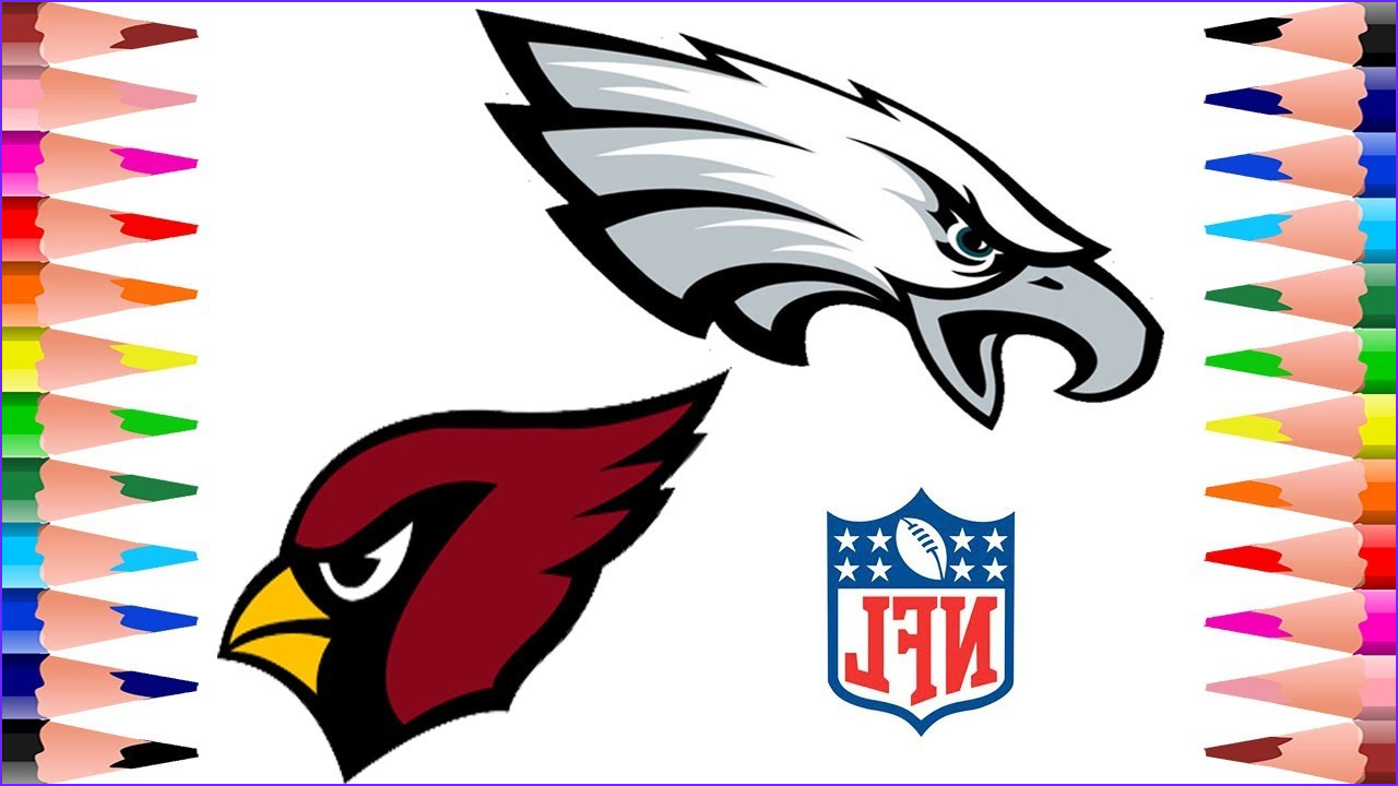 Arizona Cardinals Coloring Page Cool Image Painting Philadelphia Eagles and Arizona Cardinals Nfl