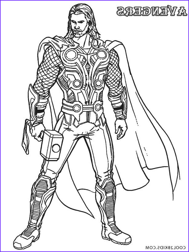 Avengers Coloring Page for Kids Inspirational Image Printable Thor Coloring Pages for Kids