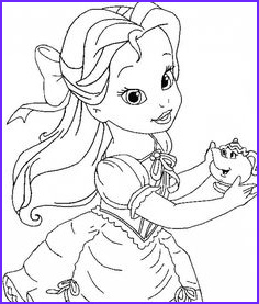 Baby Princess Coloring Page Awesome Collection Baby Princesses Disney