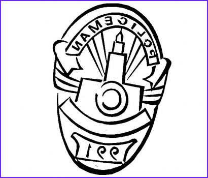 Badge Coloring Page Awesome Collection Police Badge Template Clipart Best