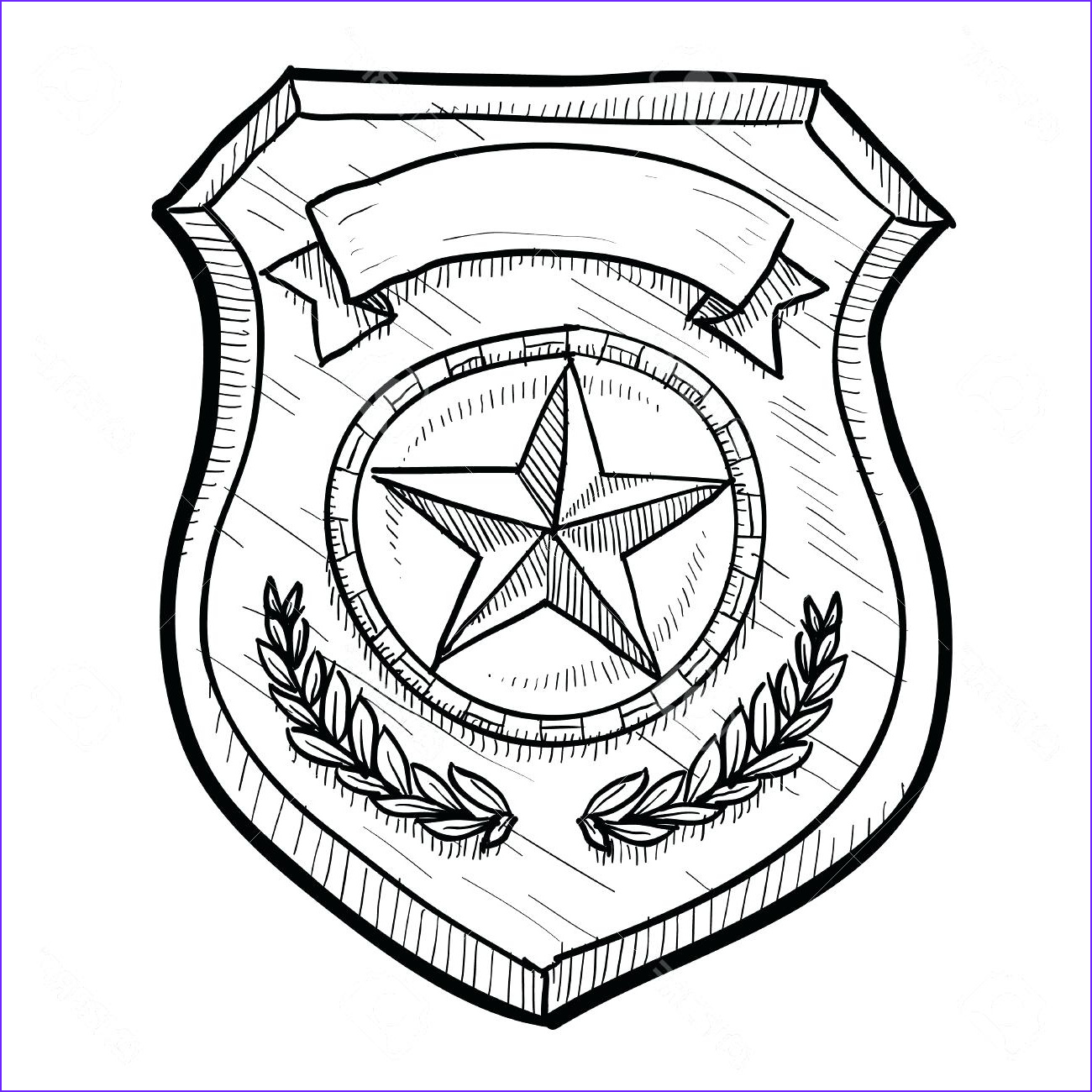 Badge Coloring Page Cool Photos Police Badge Coloring Page at Getcolorings