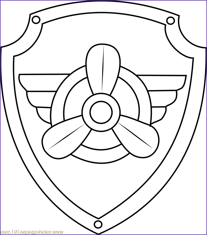 Badge Coloring Page Luxury Gallery Pin by Catherine On Paw Patrol Buhle 8 In 2019