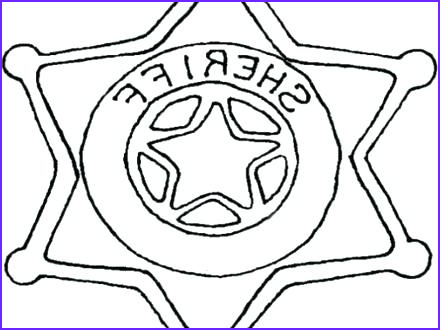 Badge Coloring Page Unique Photos Police Badge Coloring Page at Getcolorings