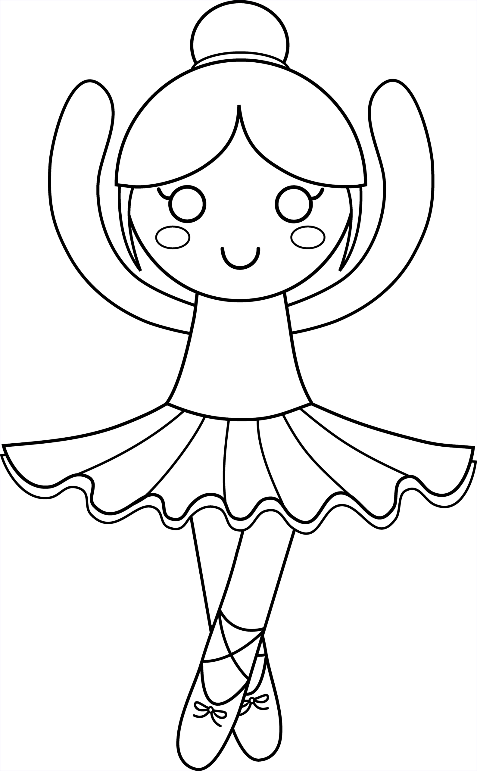 Ballerina Printable Coloring Page Inspirational Image Cute Ballerina Coloring Page Free Clip Art