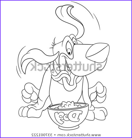 coloring page cartoon basset hound dog