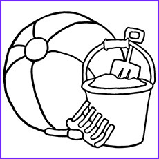 beach ball coloring pages toddler