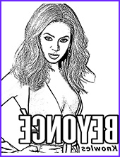 Beyonce Coloring Book Unique Collection Coloring Pages with Famous People Actors Sportsmen