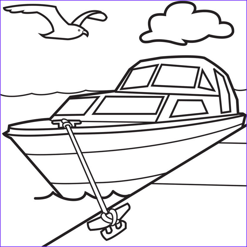 boat pictures to color