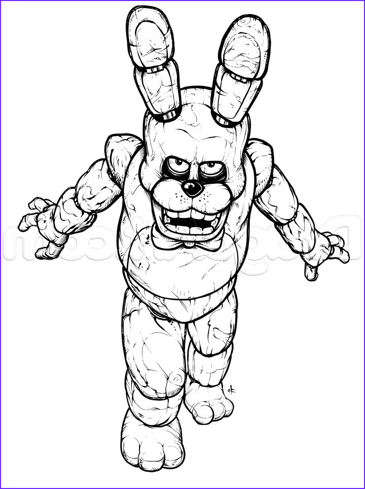 Bonnie Coloring Page Beautiful Photography How To Draw Bonnie The Bunny Five Nights At Freddys Step