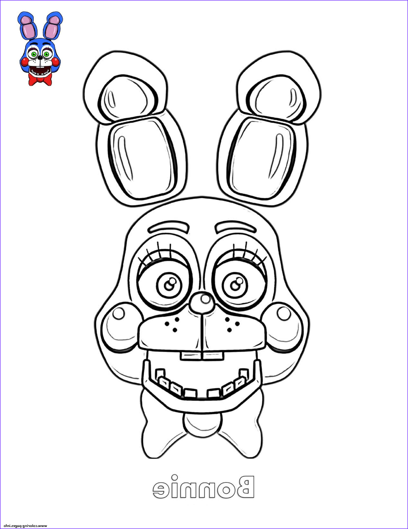 Bonnie Coloring Page Inspirational Image Bonnie Coloring Pages Nightmare Drawing Sketch Coloring Page