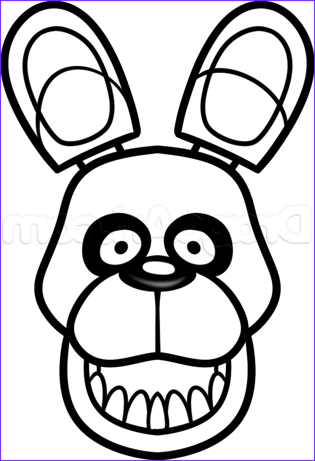 Bonnie Coloring Page Luxury Photos Bonnie How to Draw Easy