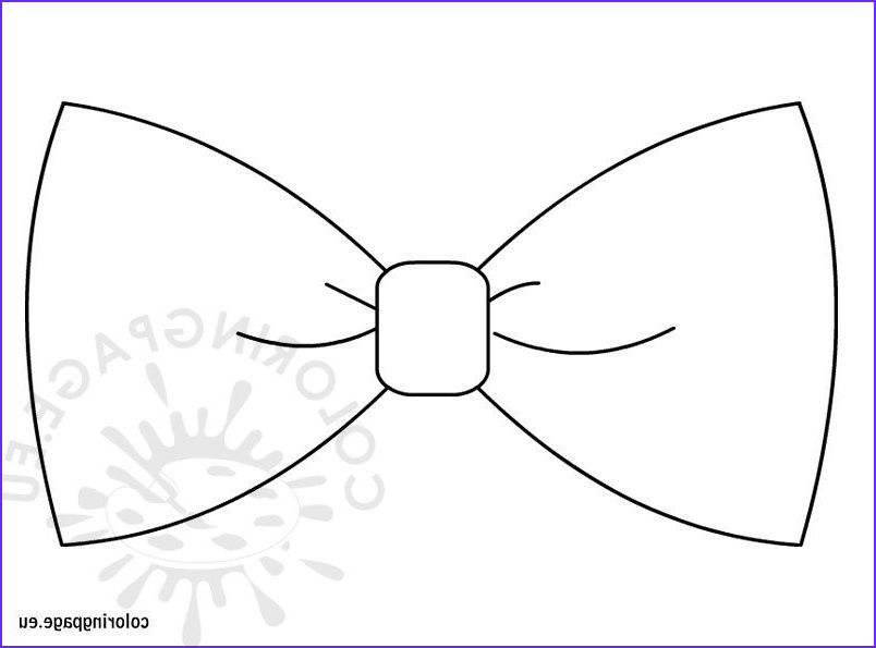 Bow Tie Coloring Page Awesome Gallery Bow Tie Template – Coloring Page