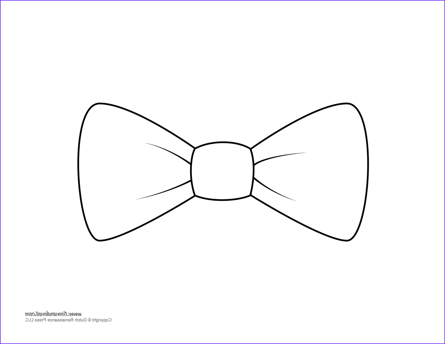 Bow Tie Coloring Page Cool Photography Paper Bow Tie Templates