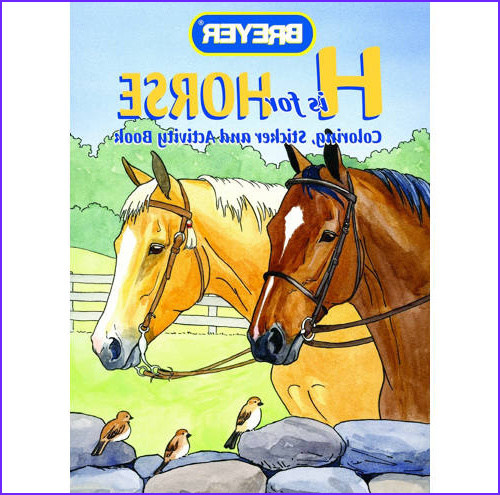 breyer h is for horse coloring sticker and activity book