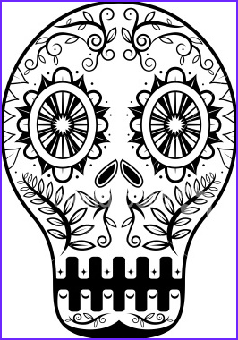 oct 25 day of the dead mask
