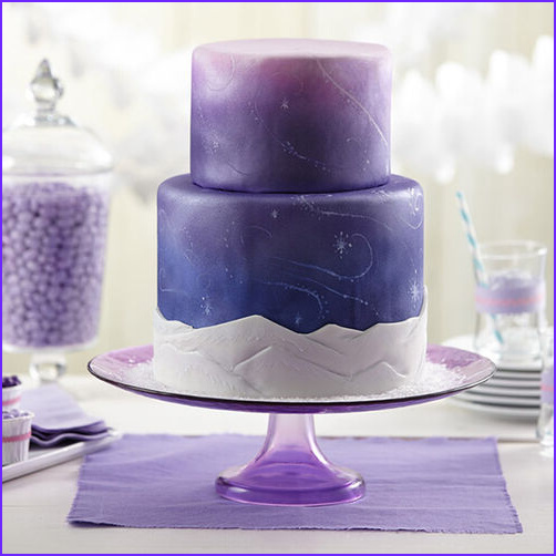 Can You Color Fondant With Food Coloring Beautiful Gallery Purple Wedding Cake Snow Swirls Fondant Cake