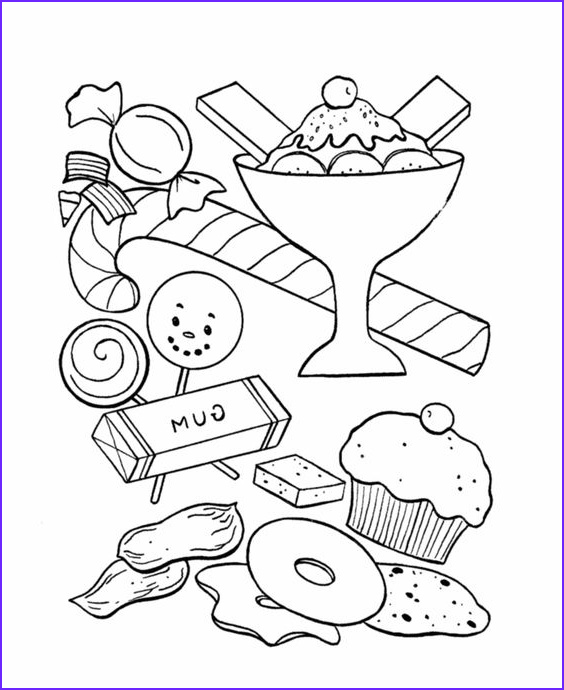 Candy Coloring Sheet Unique Photos Bluebonkers Birthday Sweets And Treats Coloring Page
