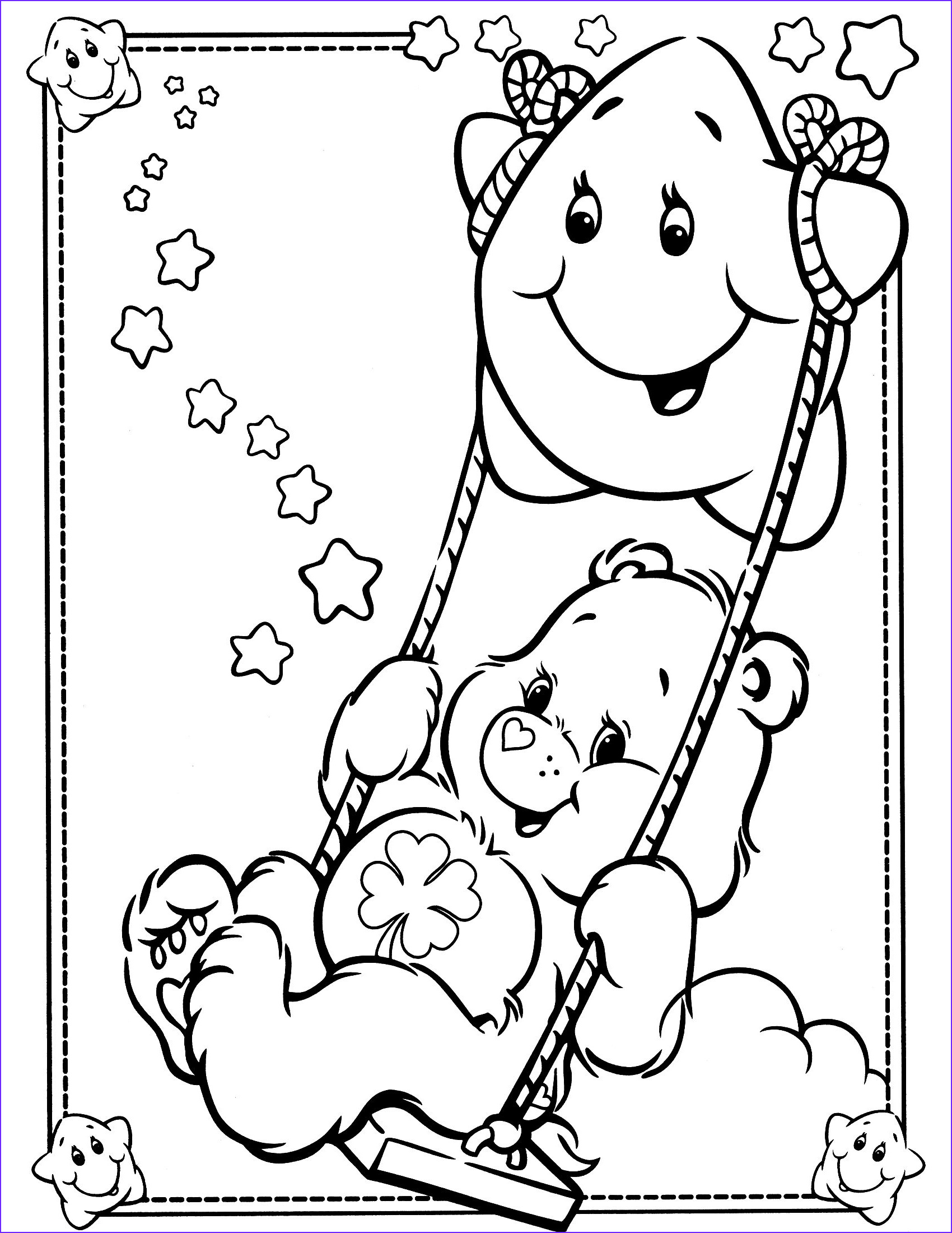 Care Bears Coloring Book Beautiful Images Care Bears Coloring Page