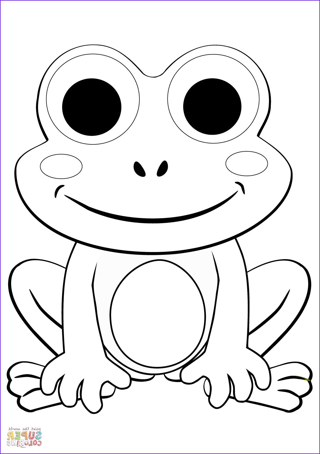 Cartoon Frog Coloring Page Beautiful Images Cute Cartoon Frog Coloring Page