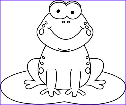 Cartoon Frog Coloring Page Elegant Photos Black and White Cartoon Frog On A Lily Pad