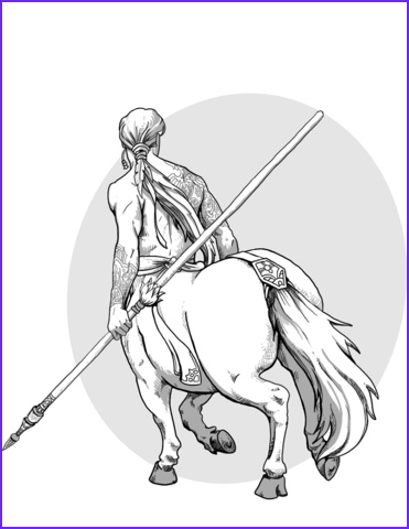 Centaur Coloring Page Inspirational Gallery Dnd Centaur Coloring Page