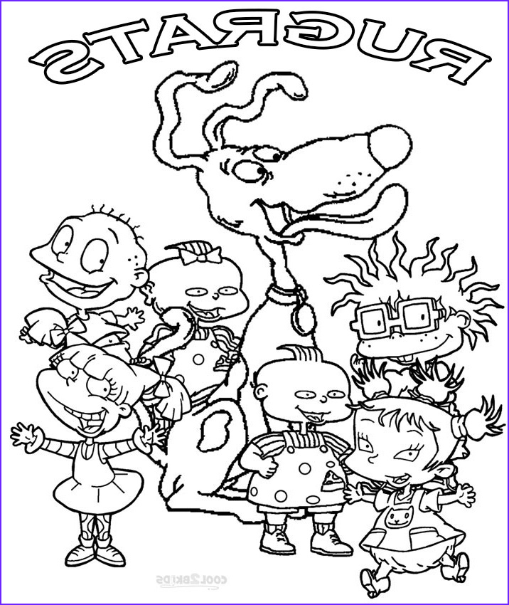 Character Coloring Page Awesome Images Printable Rugrats Coloring Pages for Kids
