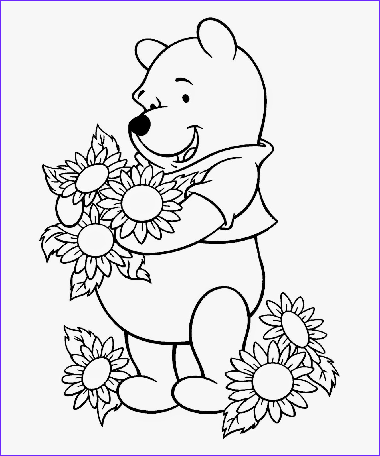 Character Coloring Page Beautiful Collection Winnie the Pooh Coloring Sheets