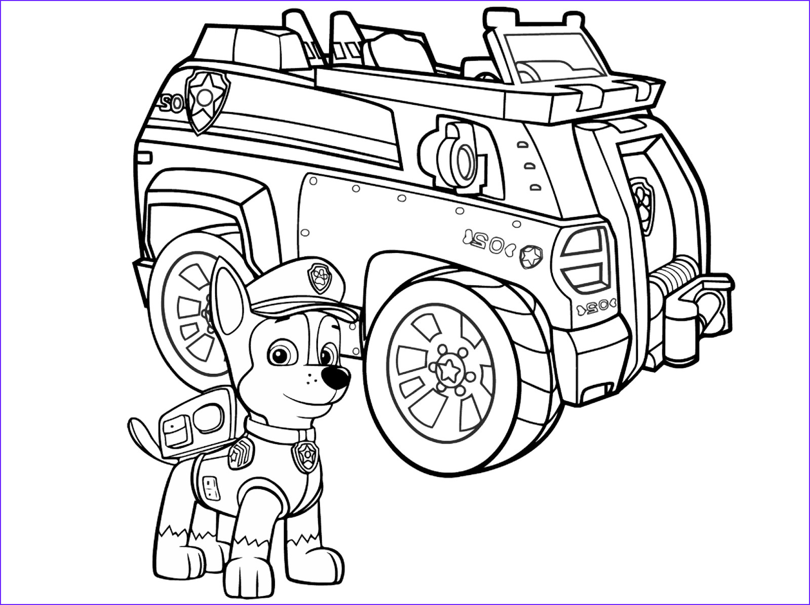 nickelodeon paw patrol chase coloring pages sketch templates