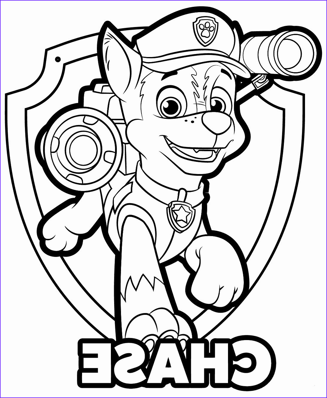 Chase Coloring Page Cool Photography Paw Patrouille Chase Malvorlagen Giap