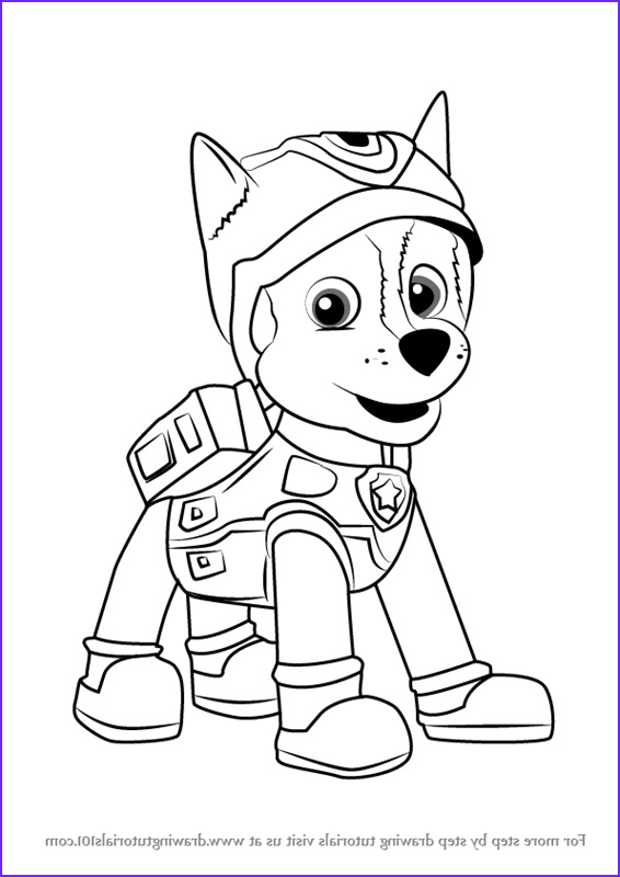 how to draw super spy chase from paw patrol step by step