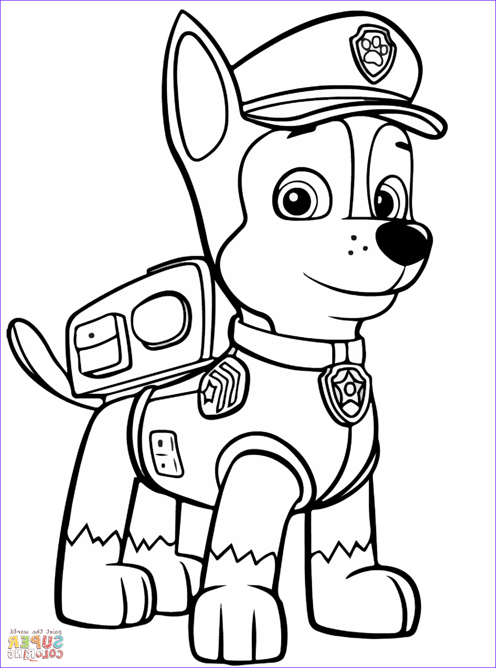 Chase Coloring Page Unique Images Paw Patrol Chase Coloring Page