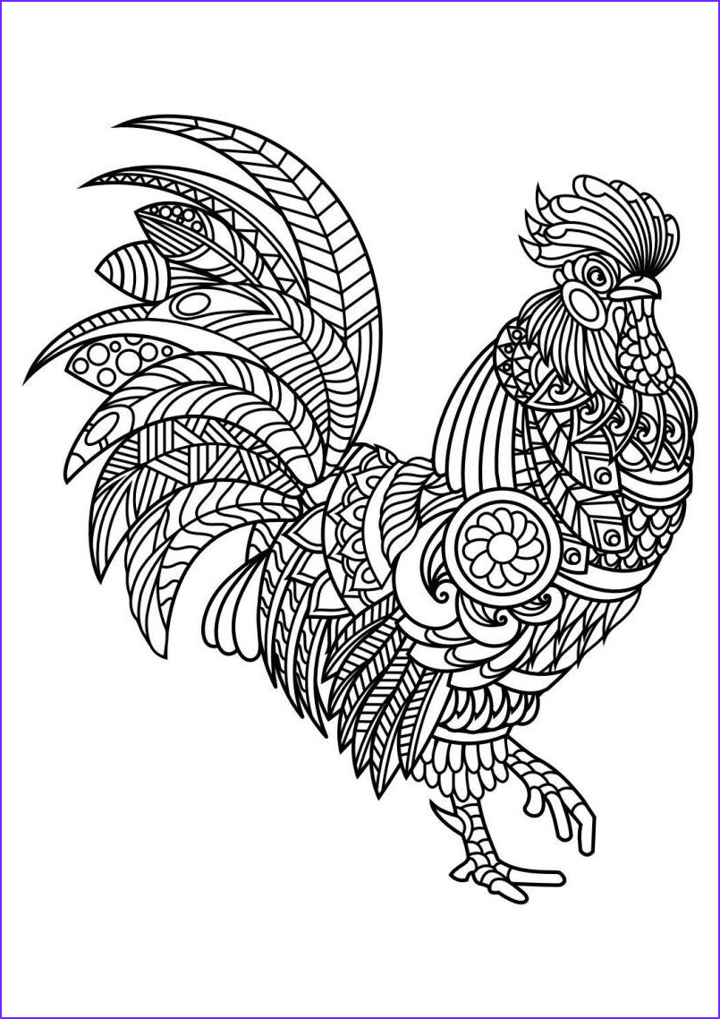 Chicken Coloring Page for Adults New Collection Best Animal Mandala Coloring Pages Collection Printable