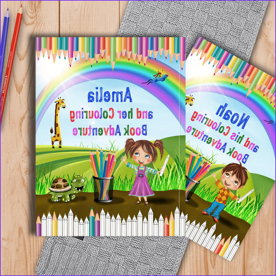 personalised childrens colouring book adventure