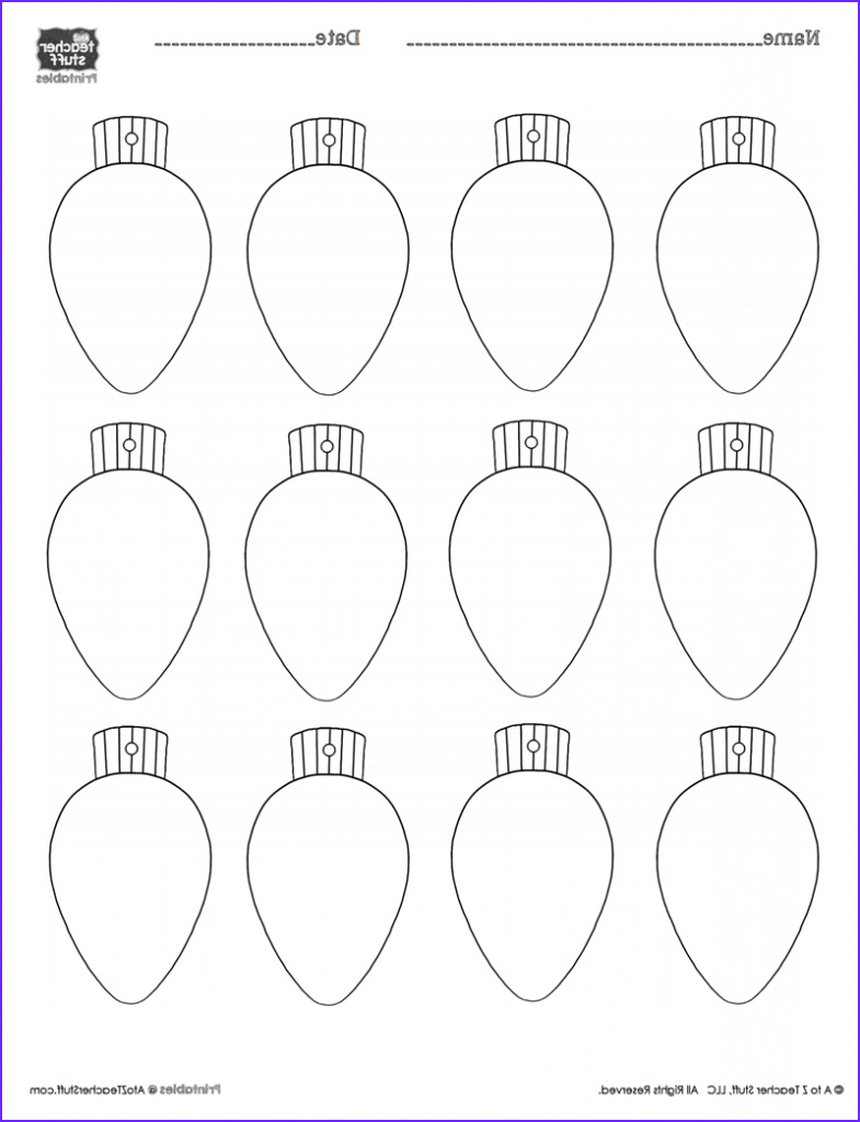 Christmas Bulb Coloring Page Luxury Image Christmas Lights Printablecoloring Page Worksheet or