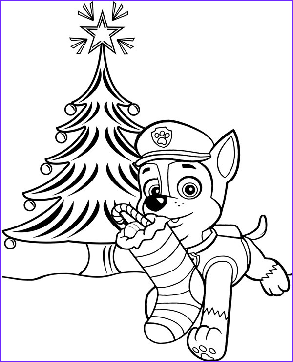 Christmas Paw Patrol Coloring Page Best Of Photos Christmas Tree Chase Paw Patrol Picture to Color