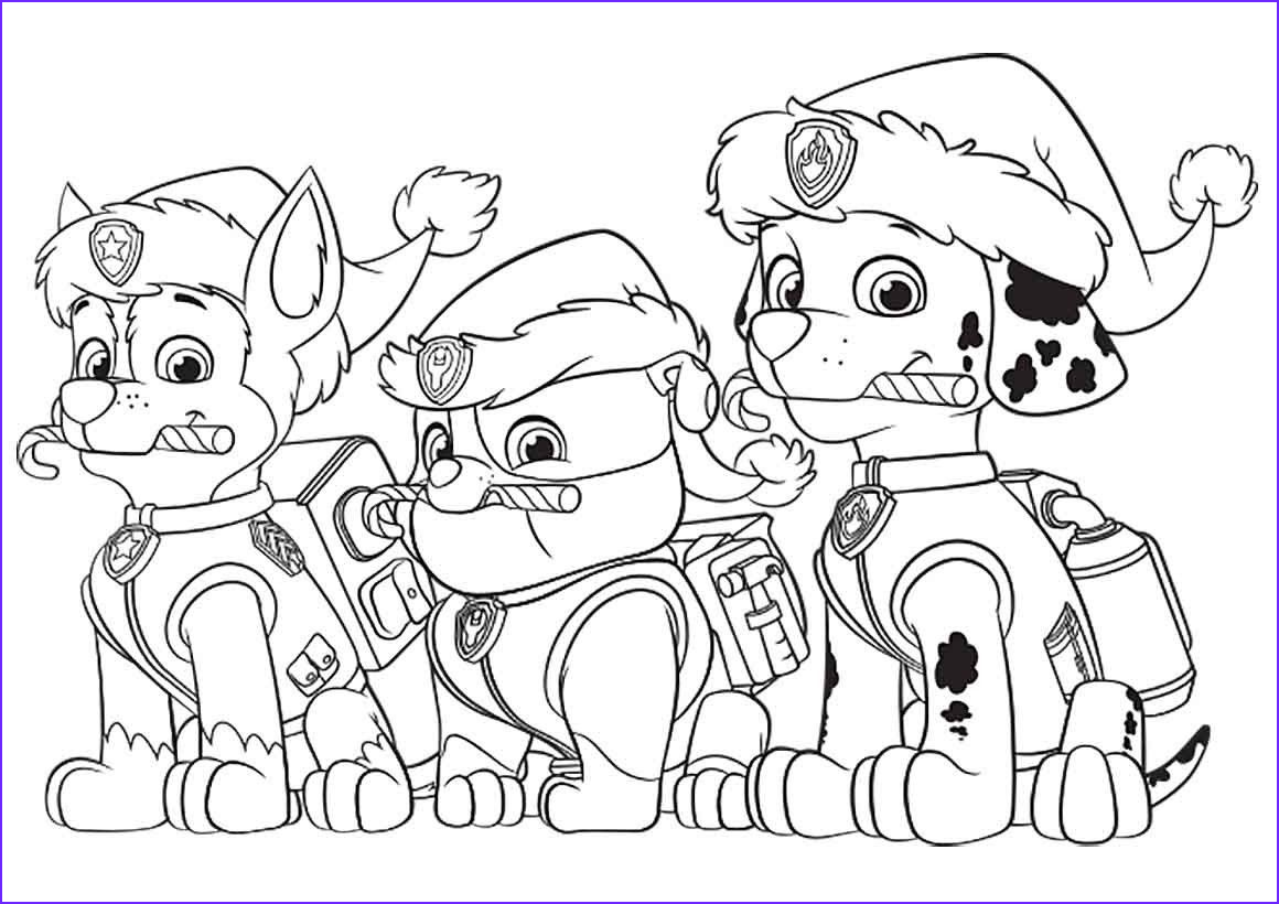 free printable paw patrol christmas coloring pages copy and