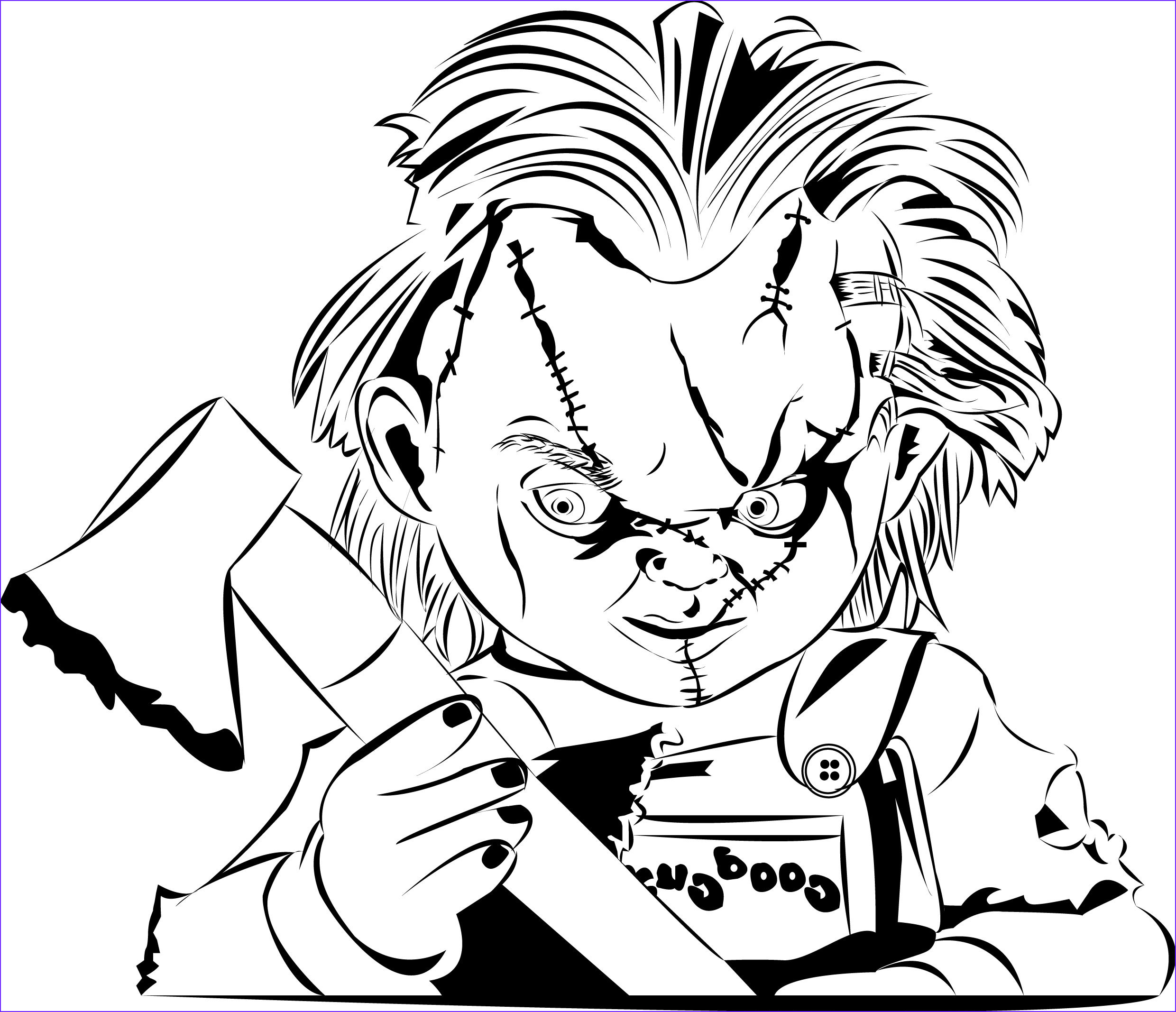 Chucky Coloring Page Best Of Image Chucky Color In 2019