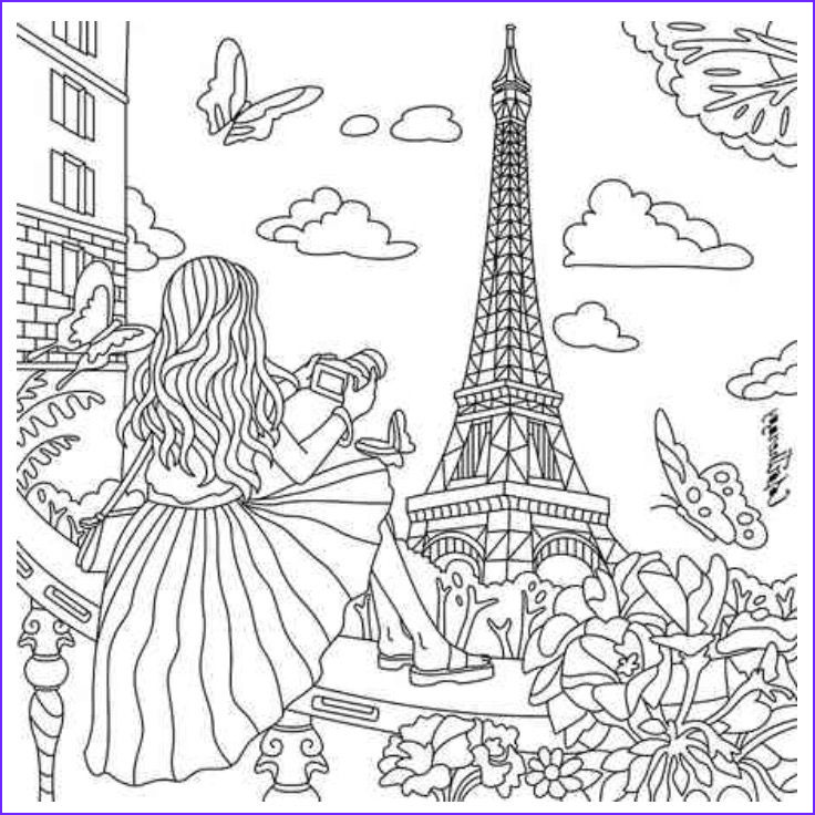 Color therapy Coloring Book Beautiful Collection Paris Coloring Colortherapy App