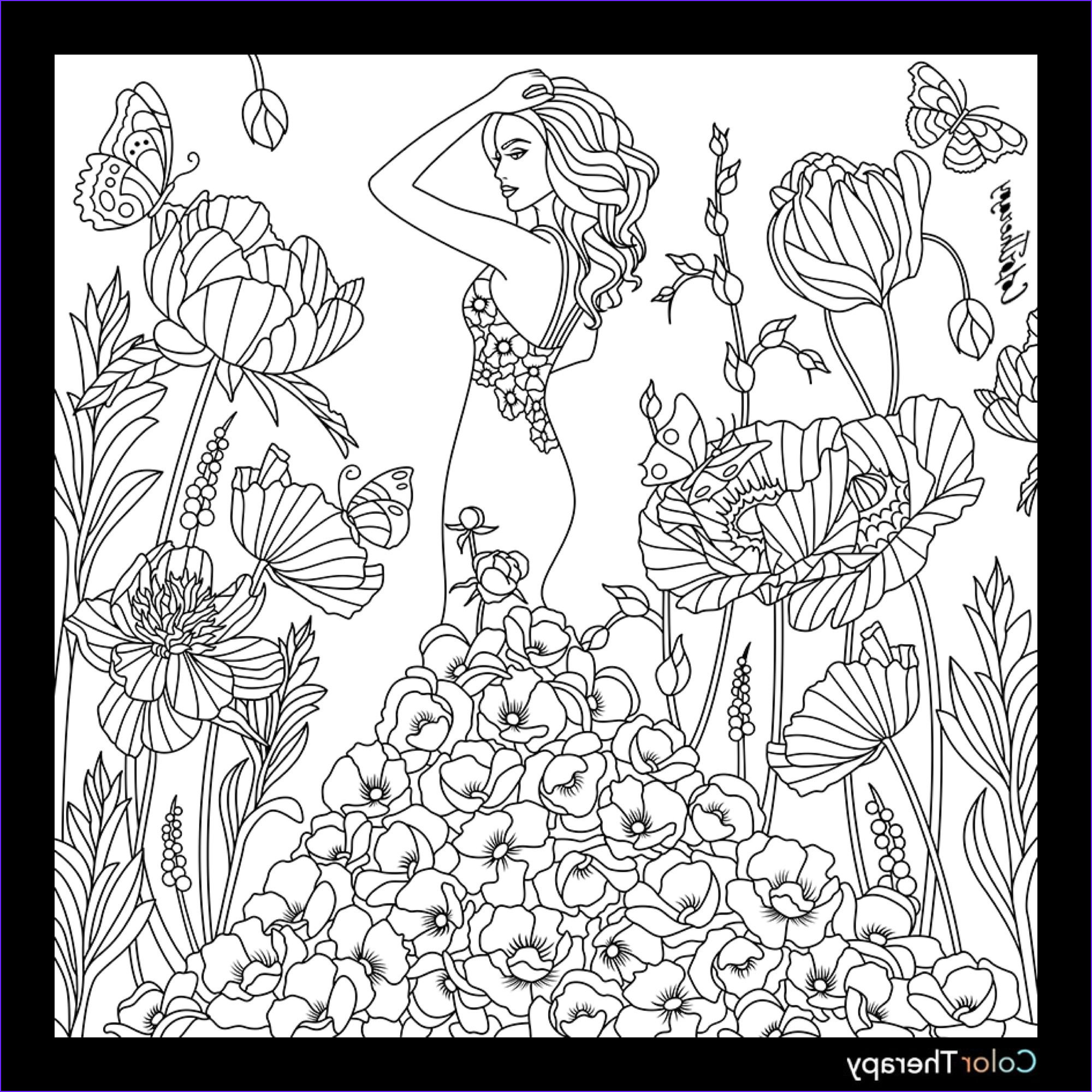 Color therapy Coloring Book Cool Gallery Fashion Coloring Page