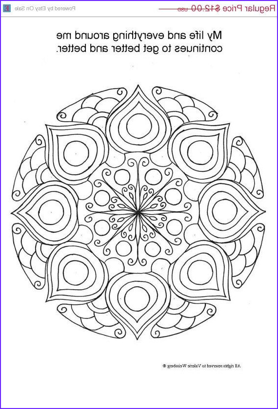 Color therapy Coloring Book Inspirational Image On Sale Mandala Coloring Book Art therapy Healing Art