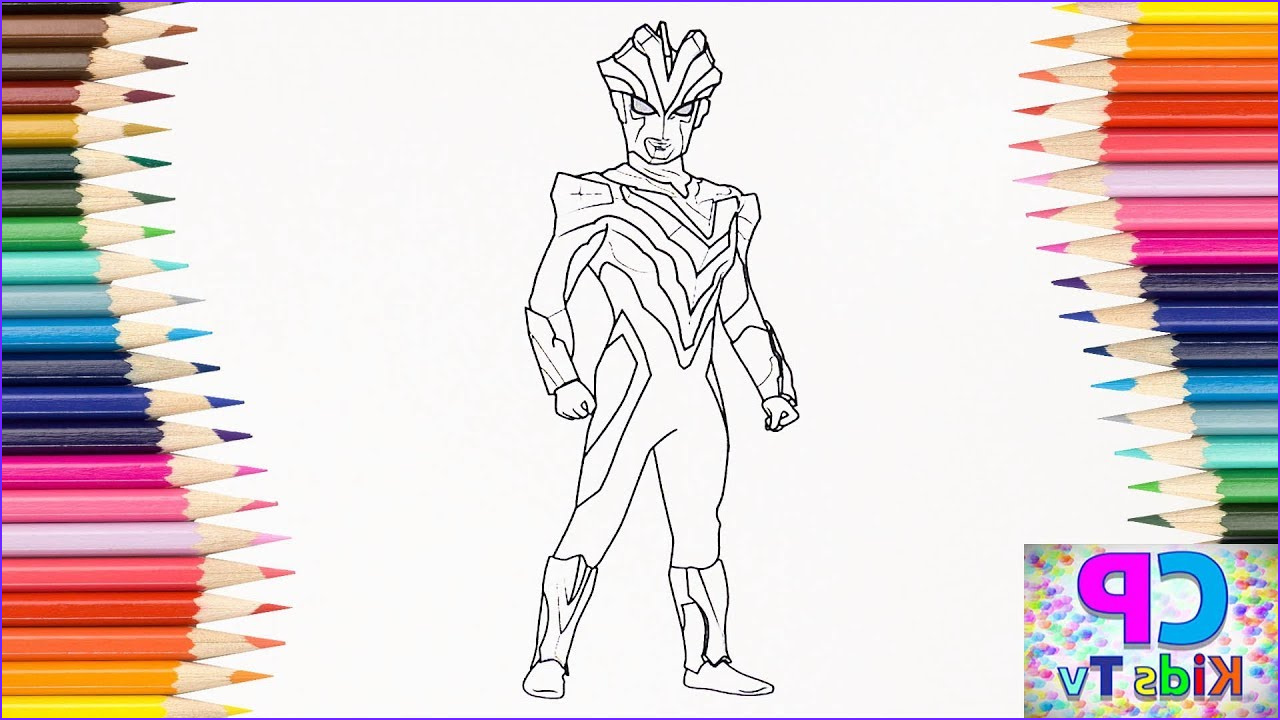 Colored Coloring Page Awesome Photos Ultraman Victory Coloring Pages for Kids How to Color