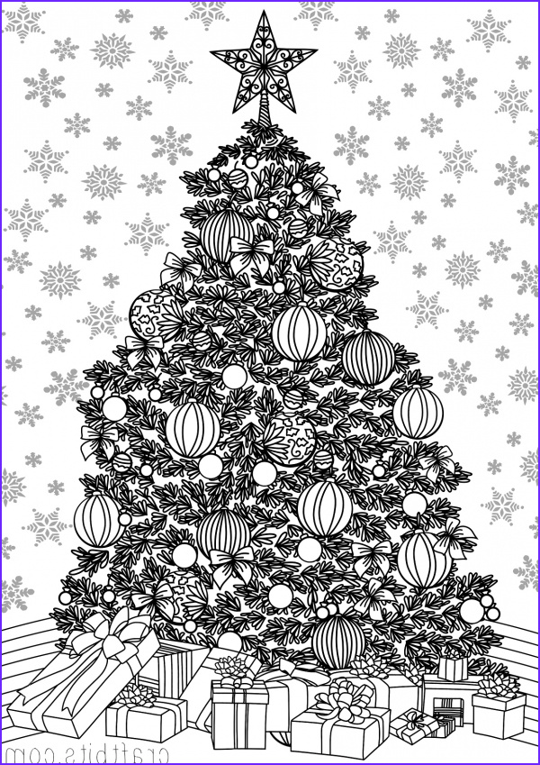 christmas themed adult coloring sheet
