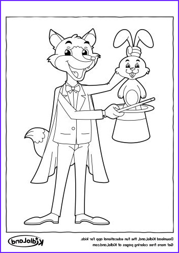 magic trick coloring page